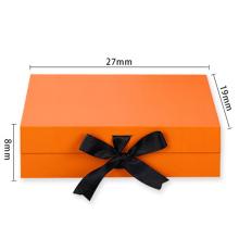Luxury Custom Paper Rigid Cardboard Box Packaging Magnetic Closure With Ribbon
