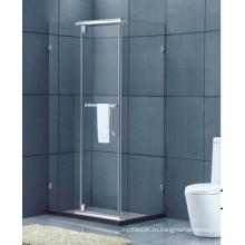 Ванная закаленное стекло Стальной каркас без стекла Стеклянная душевая комната (H016C)