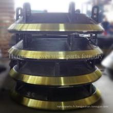 Pièces de concasseur Casting concasseur de cône Pièces de rechange Bowl Liner Mantle Concave