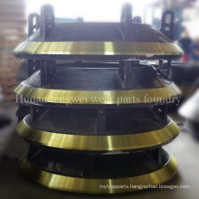 Crusher Parts Casting Cone Crusher Spare Parts Bowl Liner Mantle Concave