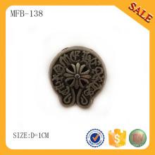 MFB138 botão de metal de design de latão antigo, botão de metal vintage para jeans