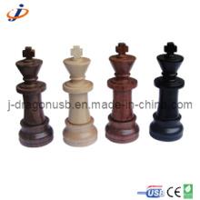 Alto nível madeira natural xadrez usb flash drive