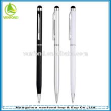 Venda quente personalizado hotel fino metal caneta promoção stylus