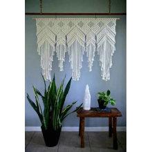 Cortina de porta de macrame artesanal bonita, aconchegante e delicada