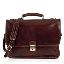 Italian Oil Vintage Durable Mens Leather Briefcase Bag For Doctor Working
