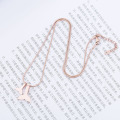 Custom Rose Gold Paus Tail Necklace For Her