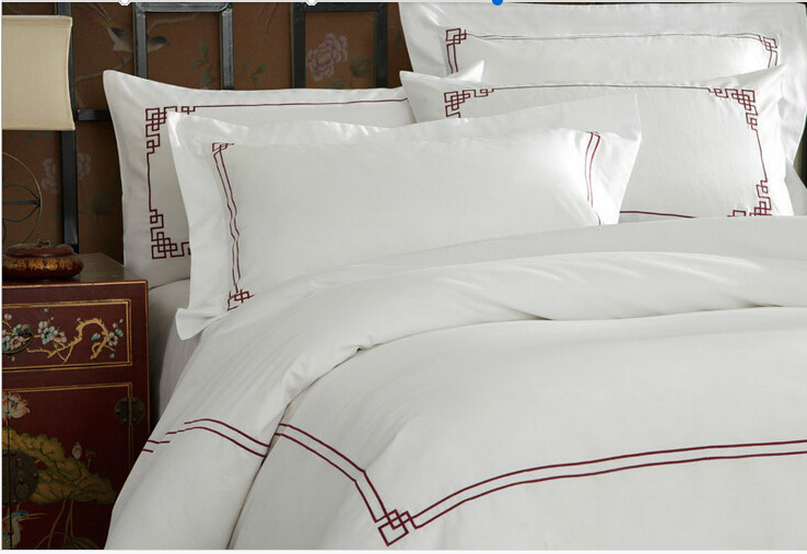 Brown Embroidery Bed Set