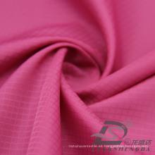 Resistente al agua y al aire libre ropa deportiva al aire libre chaqueta tejida tejido Jacquard 100% filamento tejido de poliéster (53099)