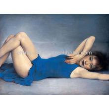 Pintura a óleo chinesa do retrato da mulher