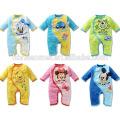 Custom made 100% cotton soft baby jumpsuit onesie unisex cute baby animal romper wholesale