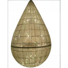 Lampe pendante en cristal décorative d'hôtel de luxe