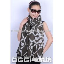 El esqueleto de las señoras imprimió la bufanda / el mantón 100% de la cachemira