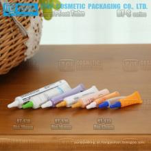 mini de 16mm e 19mm de 13mm de diâmetro e ampla aplicação pe macio plástico redondo tubo flexível de cosméticos
