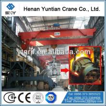 74 Tons Double Girder Steel Water Ladle Lifting Overhead Crane