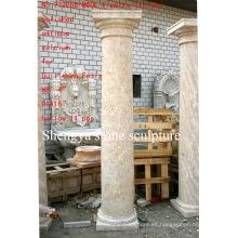Superficie pulida antigua columna de escultura de piedra (SY-C009)