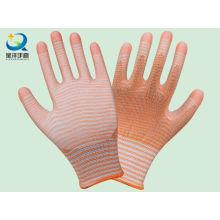 Zebra-Streifen Natrile Coated Handschuh Arbeitsschutz Sicherheitshandschuhe (N6012)