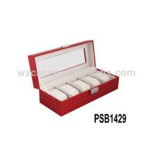 высокое качество кожи смотреть коробки для 5 часы Оптовая из Китая Пзготовителей