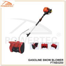 Powertec 1700W 52cc Gasolina mini soplador de nieve (PTNB5200)