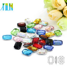 Punto de bricolaje al por mayor de nuevo lujo Crystal Gems Rhinestone octagonal en bulto C4627