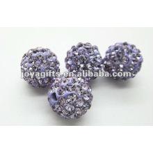 Boule de cristal en argile shamballa de 10 mm, perles shamballa