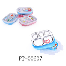 Plastic Fast Food Tray with Lid (FT-00607)