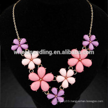 Metal rural flowers temperament diffuser necklace