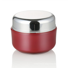 30/50ml red acrylic jar personal care acrylic jar with aluminum screw cap cream jar hot sale