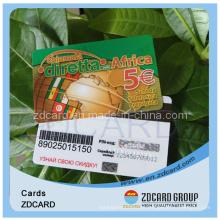 Cartão de chamada Cartão de plástico Cartão de PVC Cartão de estimação Cartão de ABS