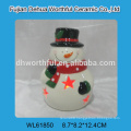 2016 christmas ornaments ceramic snowman LED