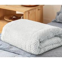 Jacquard Dots Plüsch Fleece Decke
