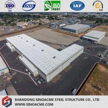 Taller de estructura de acero de grandes dimensiones con grúa aérea