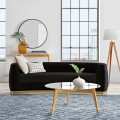 Nordic Style Furniture Living Room Set Grey Velvet Upholstered Sofa Canape