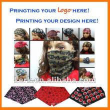 Bufanda de pañuelo sin apariencia de impresión multifuncional al aire libre