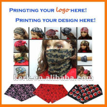 Outdoor Multi Functional Print Seemless Bandana Scarf