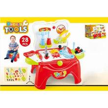 Hocker Spiel Set Spielzeug für 28PCS Werkzeuge