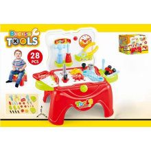 Stool Play Set Toy for 28PCS Tools