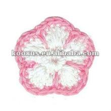 Accesorio de la flor que hace punto del algodón para la ropa