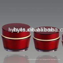 Frascos cosméticos de vidrio de colores elegantes