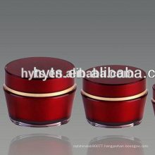 Fancy coloured glass cosmetic jars