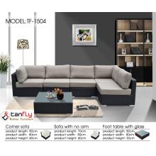 Durable lightweight aluminum frame wicker outdoor furniture sofa couch set.