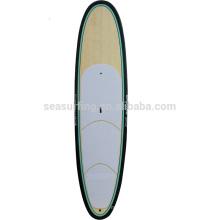 2016 hot!!!!! High quality fiberglass bamboo veneer sandwich paddle board/giant sup paddle board