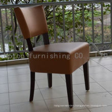 Restaurant Leather Upholstery Chair with Rubber Wood Legs (sp-ec711)