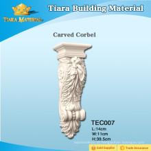 Baixo preço PU de alta qualidade esculpida corbels para planos de casa