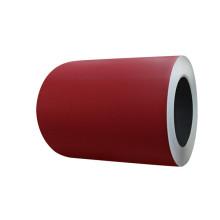 стальная катушка красного цвета