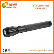 Fabricante Hot Sale Super Bright 10w cree llevó antorcha de aluminio de largo enfoque de Dimmable