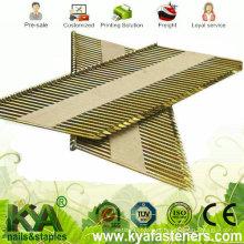 Zinc galvanizado fita de papel colado pregos