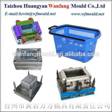 China taizhou plastic shopping basket mould/China taizhou molde de cesta de compras de plastico