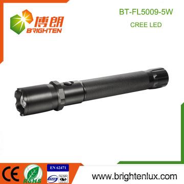 Fabrik Versorgung Strahl justierbare Fokus-Notfall-Gebrauch Aluminiumlegierung 5W lange Strecke Cree 3D Batterie Taktische Taschenlampe Rückblick