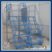 Movable Stair Step Climbing Ladder Steel Trolley