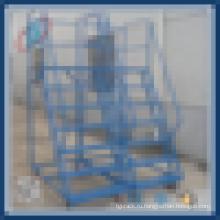 Подвижная лестница, поднимающаяся по лестнице Стальная тележка
